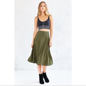 Urban Outfitters Midi Skirt with button front